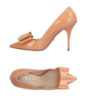 Туфли DEL GATTO. Цвет: абрикосовый