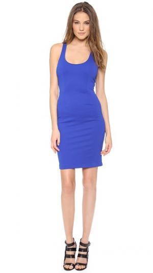 Платье со спиной-борцовкой 5th & Mercer. Цвет: синий электрик