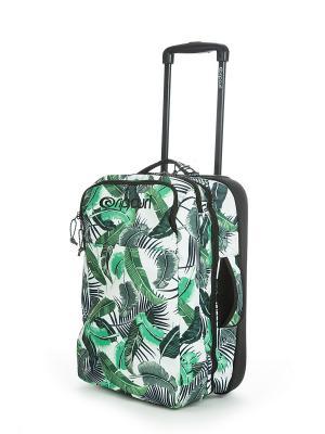 Чемодан PALM ISLAND CABIN TROLLEY Rip Curl. Цвет: белый, зеленый
