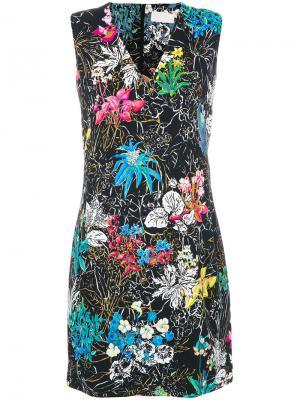 Мини-платье с цветочным принтом Peter Pilotto. Цвет: чёрный