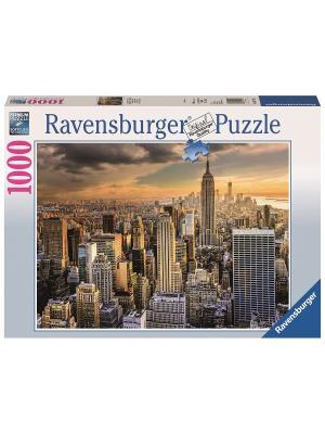 Пазл Большой Нью-Йорк 1000 шт Ravensburger. Цвет: синий