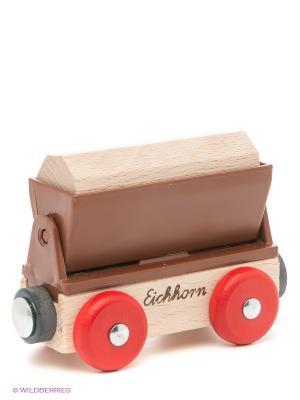 Грузовой вагон Eichhorn. Цвет: бежевый, красный, коричневый