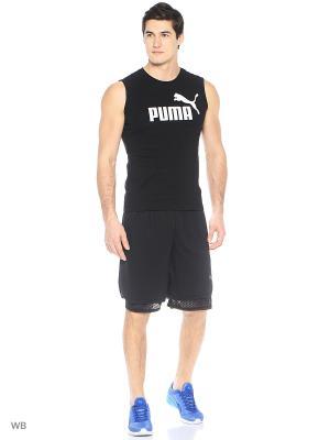Футболка Puma. Цвет: черный