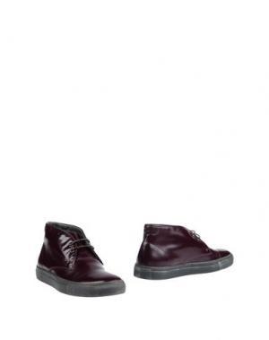 Полусапоги и высокие ботинки GUARDIANI SPORT. Цвет: баклажанный