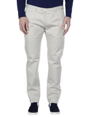 Повседневные брюки PAOLONI. Цвет: светло-серый