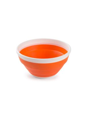 Миска складная Compact 1,4 л (мандарин) Berossi. Цвет: оранжевый, белый