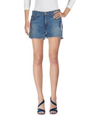 Джинсовые шорты SANDRINE ROSE. Цвет: синий
