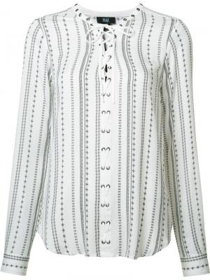 Блузка со шнуровкой Paige. Цвет: белый