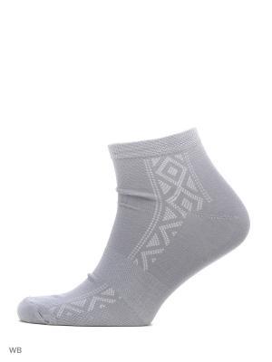 Спортивные укороченные носки (3 пары) HOSIERY. Цвет: серый