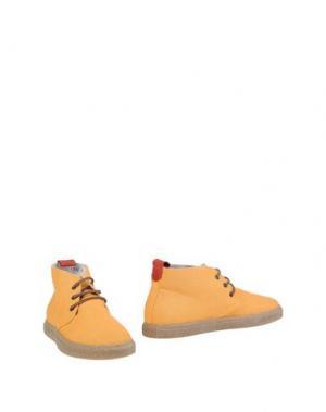 Полусапоги и высокие ботинки DEL TORO. Цвет: охра