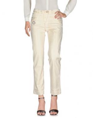 Повседневные брюки DANIELA DALLA VALLE ELISA CAVALETTI. Цвет: светло-желтый