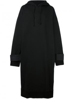 Объемная длинная толстовка D.Gnak. Цвет: чёрный