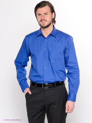 Рубашка Hans Grubber. Цвет: синий
