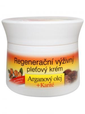 Крем восстанавливающий для лица с Аргановым маслом и ши 51 мл. BioBione. Цвет: белый
