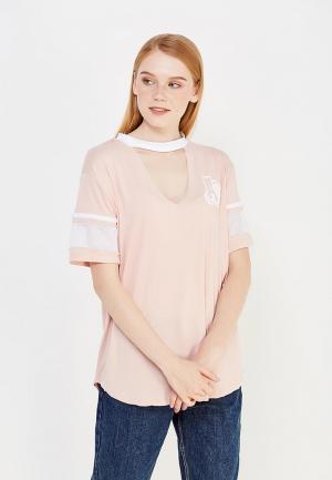 Футболка Jennyfer. Цвет: розовый