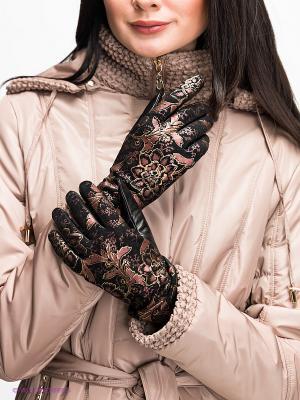 Перчатки Eleganse. Цвет: черный, розовый