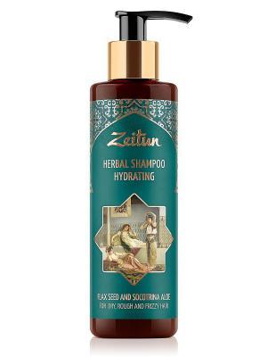 Увлажняющий фито-шампунь без SLS для сухих, жестких и кудрявых волос. Со льном сокотрийским алоэ Зейтун. Цвет: кремовый