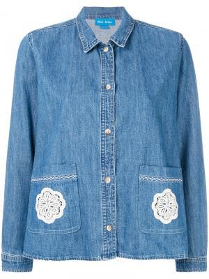 Джинсовая рубашка Lace Vintage Mih Jeans. Цвет: синий