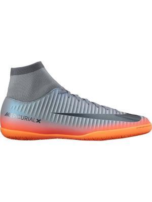 Шиповки MERCURIALX VCTRY VI CR7 DF IC Nike. Цвет: серый, оранжевый