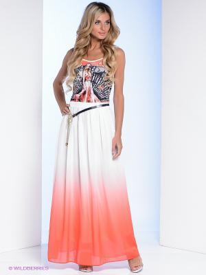 Сарафан Milana Style. Цвет: белый, коралловый