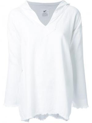Блузка с необработанными краями Fabiane Roux. Цвет: белый