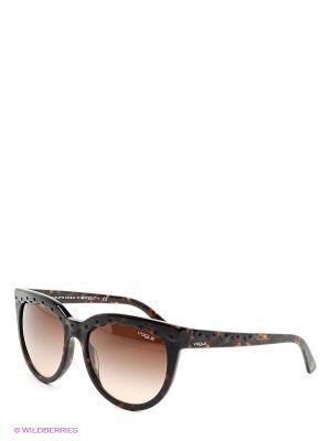 Очки солнцезащитные Vogue. Цвет: коричневый, антрацитовый