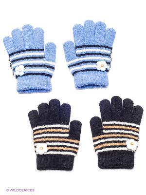 Перчатки, 2 пары FOMAS. Цвет: черный, голубой