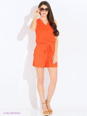 Комбинезон INCITY. Цвет: оранжевый