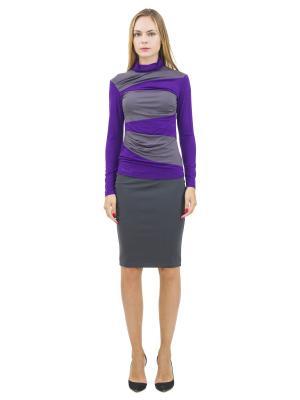 Водолазка DOCTOR E. Цвет: фиолетовый, серый