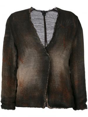 Окрашенный трикотажный пиджак Avant Toi. Цвет: коричневый