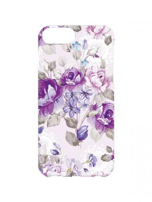 Чехол для iPhone 7Plus Сиреневые розы Арт. 7Plus-277 Chocopony. Цвет: сиреневый, белый