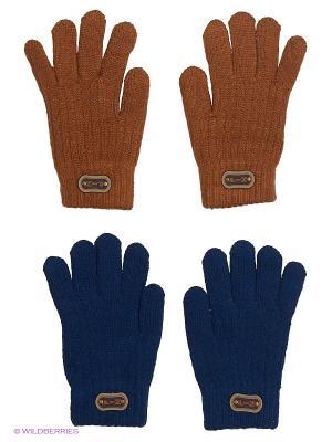 Перчатки FOMAS. Цвет: коричневый, темно-синий