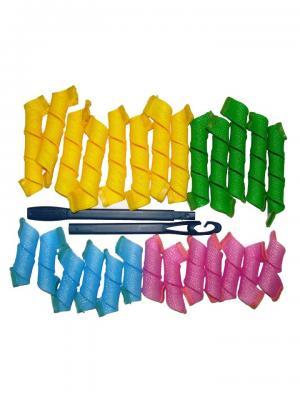 Magic Leverage Волшебные бигуди Стандартные большие (15см+25см), 26 шт.. Цвет: зеленый, голубой, желтый, розовый