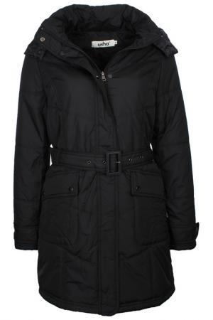 Пальто Usha. Цвет: черный