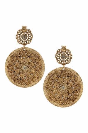 Серьги с кристаллами Herald Percy. Цвет: золотой