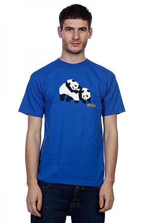 Футболка  Piggyback Pandas Royal Blue Enjoi. Цвет: синий