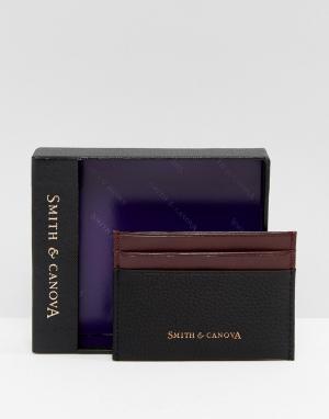 Smith And Canova Черная кожаная кредитница. Цвет: черный