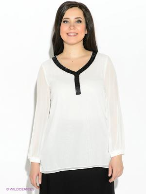 Блузка Vera Mont. Цвет: белый