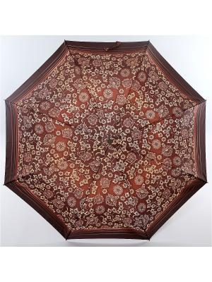 Зонт Zest, 3 слож, ПолнАвто, П-Э Zest. Цвет: серо-коричневый, темно-коричневый
