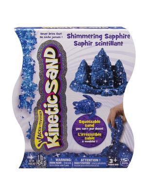Песок для лепки драгоценные камни, Kinetic sand, 455гр, цвет синий SPIN MASTER. Цвет: синий
