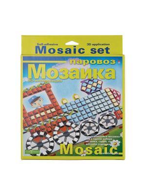 Набор декоративная мозаика  №5 паровоз Альт. Цвет: красный