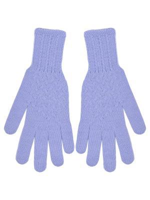 Перчатки R&I. Цвет: голубой
