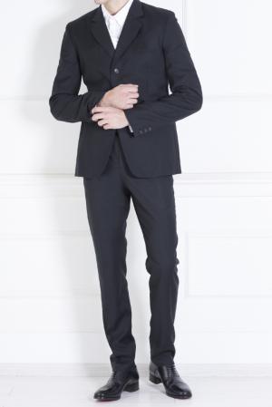 Хлопковый пиджак Raf Simons. Цвет: черный