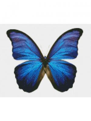 Алмазная мозаика Бабочка Морфо Цветной. Цвет: белый