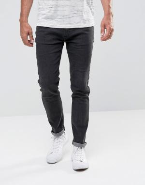 Bellfield Выбеленные черные джинсы скинни. Цвет: черный