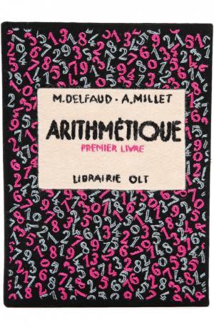 Клатч в виде книги с вышивкой Olympia Le-Tan. Цвет: черный
