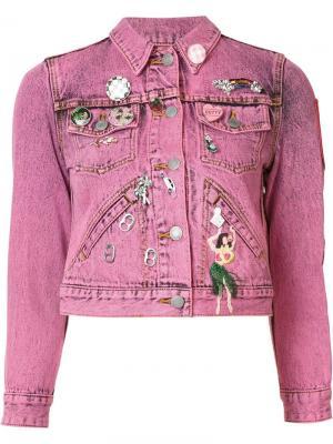 Декорированная джинсовая куртка Marc Jacobs. Цвет: розовый и фиолетовый