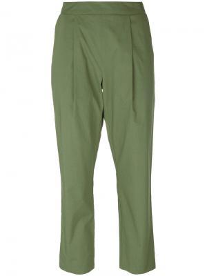 Укороченные брюки Semicouture. Цвет: зелёный