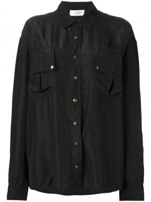 Рубашка с нагрудными карманами Faith Connexion. Цвет: чёрный