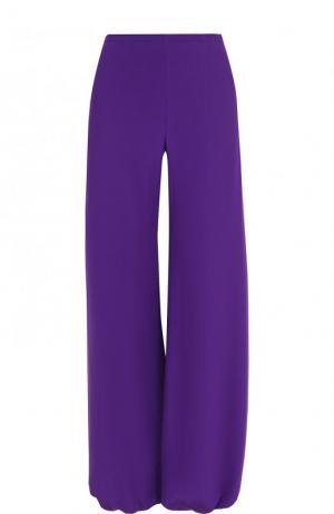 Шелковые однотонные брюки с карманами Emilio Pucci. Цвет: фиолетовый